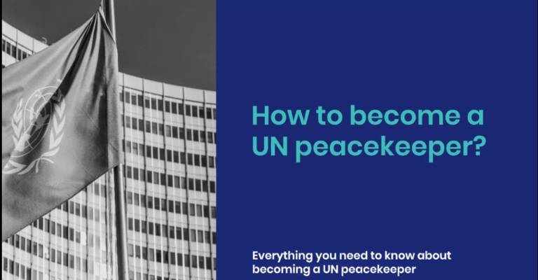 How to become a UN peacekeeper